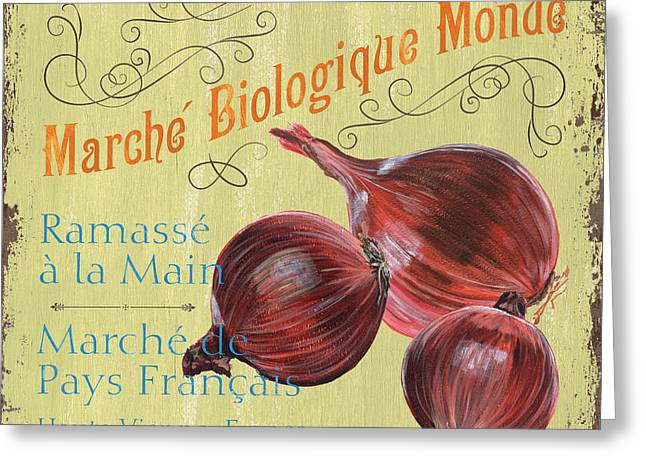 Onion Greeting Cards - French Market Sign 4 Greeting Card by Debbie DeWitt