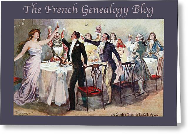 A Morddel Greeting Cards - French New Year with FGB border Greeting Card by A Morddel