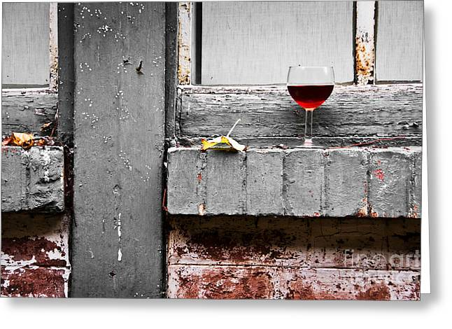 Glass Wall Greeting Cards - French party Greeting Card by Delphimages Photo Creations
