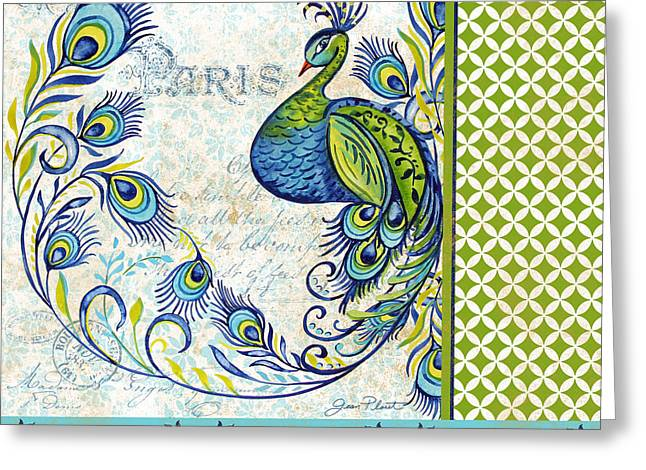 Nature Study Greeting Cards - French Peacock-f Greeting Card by Jean Plout