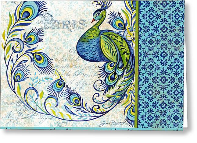 Nature Study Digital Art Greeting Cards - French Peacock-g Greeting Card by Jean Plout
