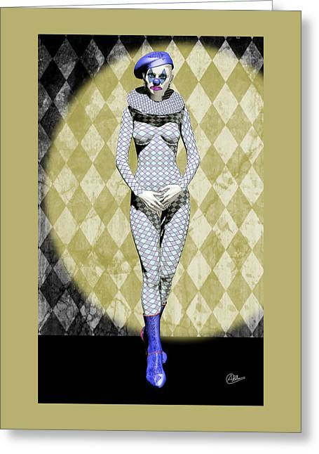 Pierrot Greeting Cards - French Pierrette Greeting Card by Joaquin Abella