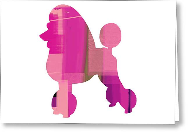 Pets Mixed Media Greeting Cards - French Poodle Greeting Card by Naxart Studio