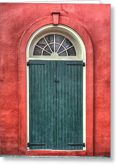 French Door Greeting Cards - French Quarter Arched Door Greeting Card by Brenda Bryant