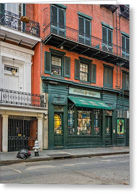 French Door Greeting Cards - French Quarter Architecture Greeting Card by Steve Harrington