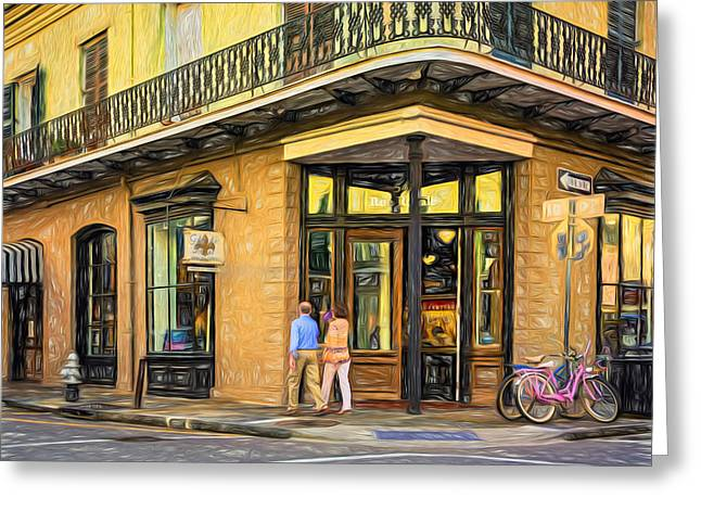 French Doors Digital Art Greeting Cards - French Quarter Art - Paint Greeting Card by Steve Harrington
