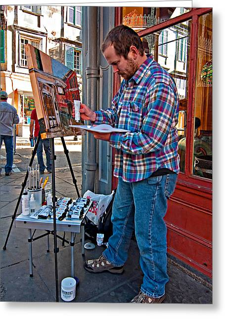 French Quarter Artist Greeting Card by Steve Harrington