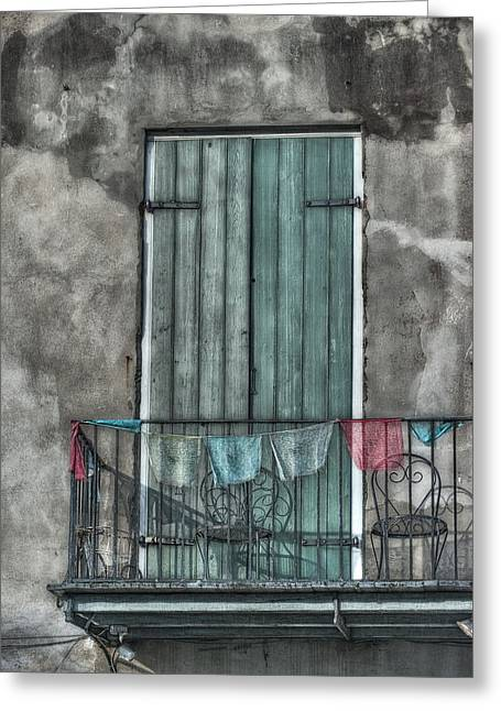 French Door Greeting Cards - French Quarter Balcony Greeting Card by Brenda Bryant