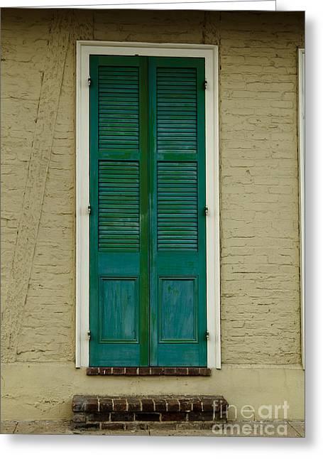 French Quarter Door - 15 Greeting Card by Susie Hoffpauir