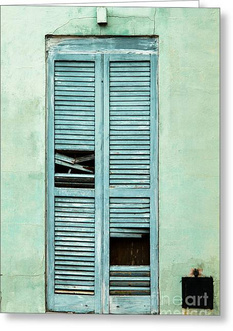 French Doors Greeting Cards - French Quarter Door - 9 Greeting Card by Susie Hoffpauir