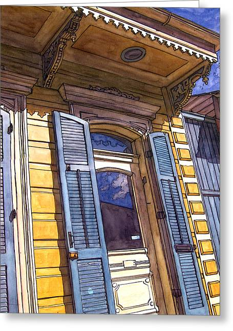 French Door Greeting Cards - French Quarter Door #346 Greeting Card by John Boles