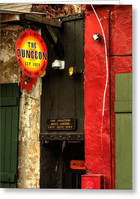 Dungeons Greeting Cards - French Quarter Dungeon Greeting Card by Chrystal Mimbs