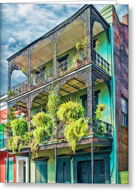 French Quarter Home Greeting Cards - French Quarter Ferns Greeting Card by Brenda Bryant