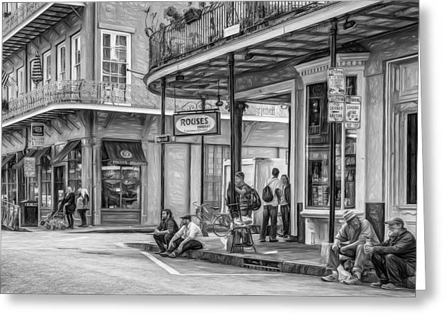 Hanging Out Greeting Cards - French Quarter - Hangin Out 3 Greeting Card by Steve Harrington