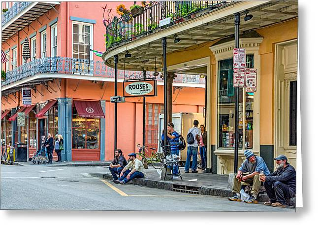 Hanging Out Greeting Cards - French Quarter - Hangin Out Greeting Card by Steve Harrington