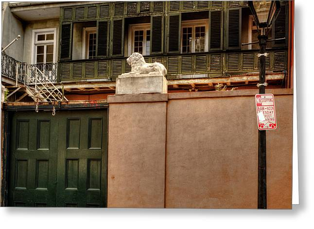 French Door Greeting Cards - French Quarter Quarters Greeting Card by Chrystal Mimbs