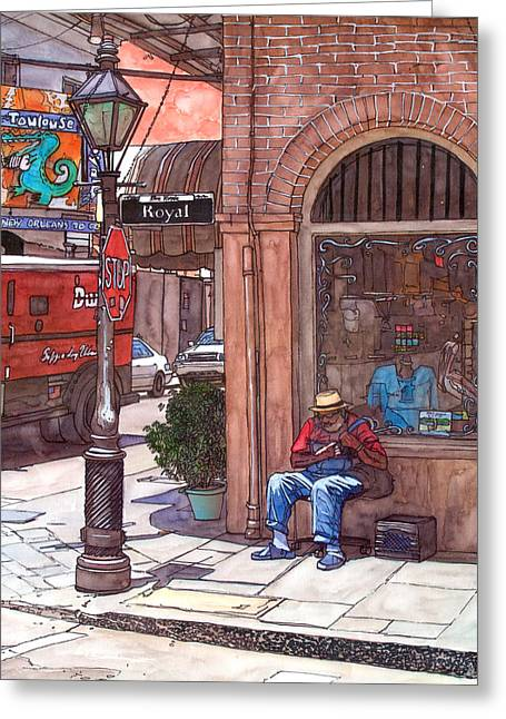 French Quarter Doors Greeting Cards - French Quarter Royal St. Greeting Card by John Boles