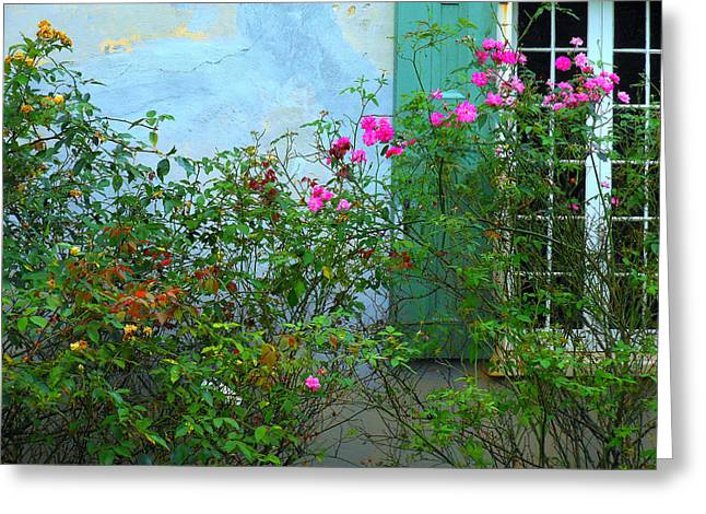 Shudder Greeting Cards - French Quarter Greeting Card by Sherry Dooley