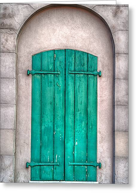 French Quarter Doors Greeting Cards - French Quarter Shutters Greeting Card by Brenda Bryant