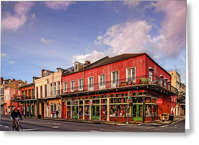 Mardis Greeting Cards - French Quarter Waking up to a New Morning - New Orleans Louisiana Greeting Card by Silvio Ligutti