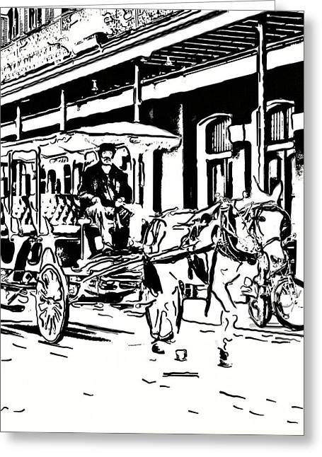 Quarter Horse Greeting Cards - French Quarter Wheels 2 Greeting Card by Steve Harrington