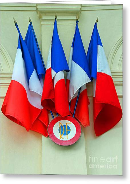 Franch Greeting Cards - French Republic flags Greeting Card by Alain Michiels
