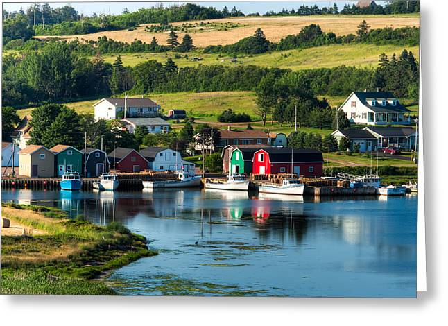 Lobster Shack Greeting Cards - French River Greeting Card by Matt Dobson