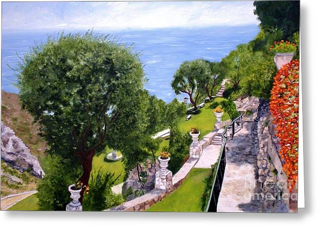 French Riviera Greeting Card by Graciela Castro