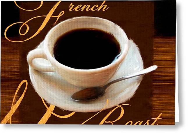 Caffe Latte Greeting Cards - French Roast Greeting Card by Lourry Legarde