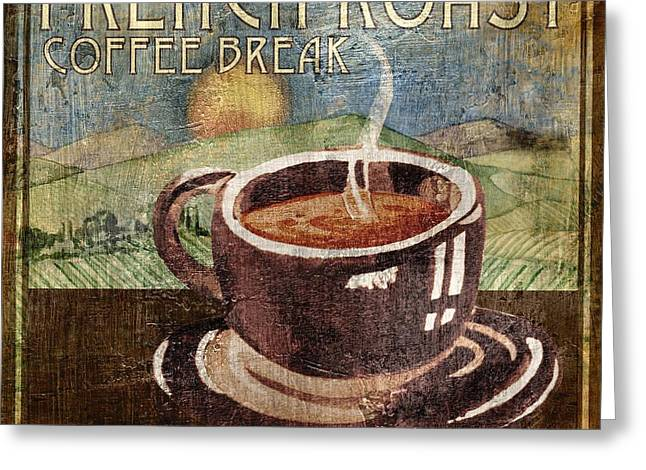 Barista Greeting Cards - French Roast Greeting Card by Paul Brent