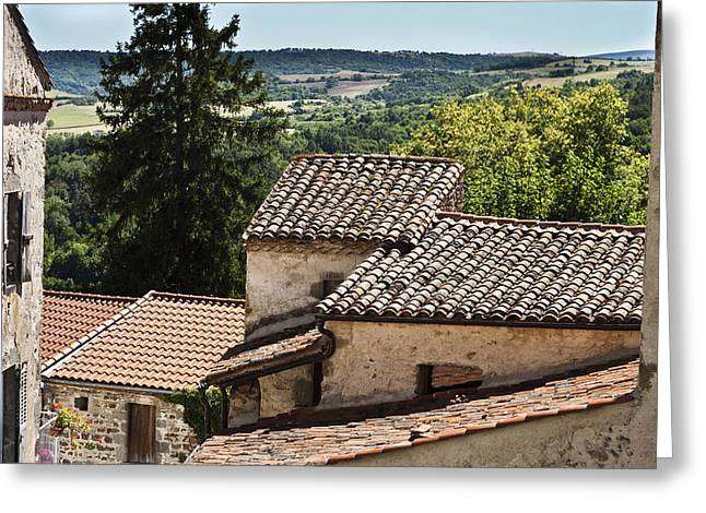 Old Home Place Greeting Cards - French Roofs Greeting Card by Nomad Art And  Design