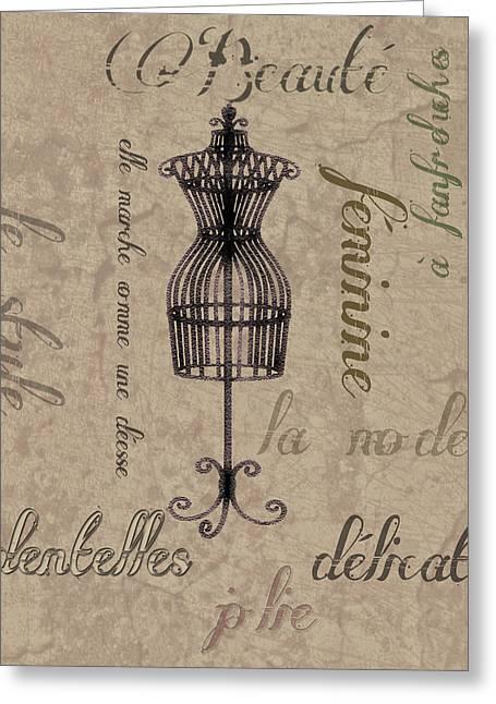 Garment Digital Art Greeting Cards - French Salon Art Greeting Card by Greg Sharpe