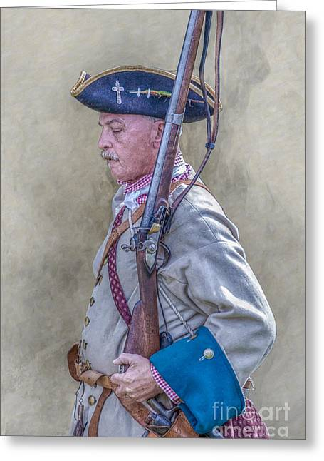 Christmas Art Greeting Cards - French Soldier and Rifle Penns Colony Greeting Card by Randy Steele