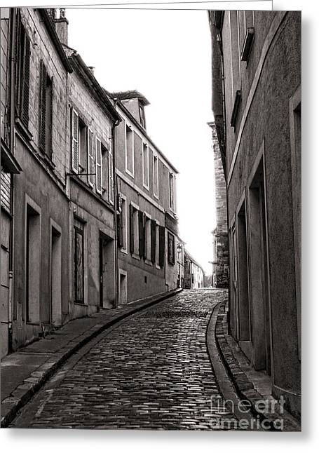 Incline Greeting Cards - French Street Greeting Card by Olivier Le Queinec