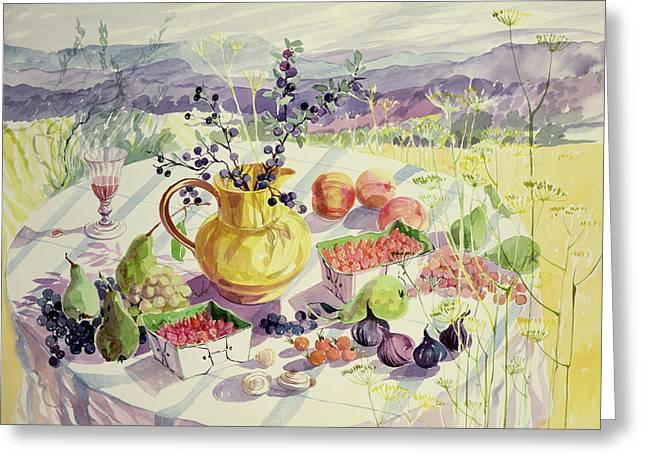 French Table Greeting Card by Elizabeth Jane Lloyd