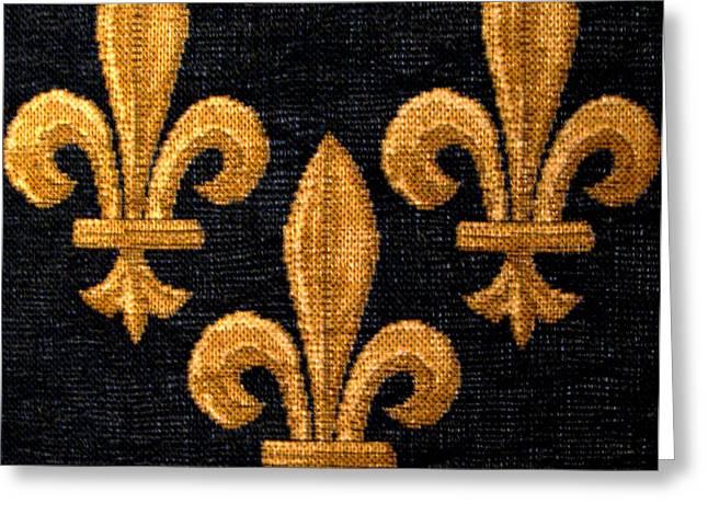 Patricia Januszkiewicz Greeting Cards - French Tapestry Greeting Card by Patricia Januszkiewicz