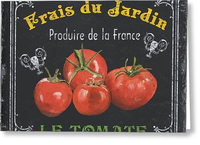 Vegetables Paintings Greeting Cards - French Vegetables 1 Greeting Card by Debbie DeWitt