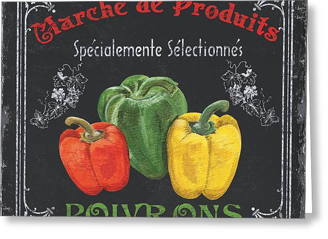 Vegetarian Greeting Cards - French Vegetables 3 Greeting Card by Debbie DeWitt