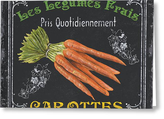 Vine Greeting Cards - French Vegetables 4 Greeting Card by Debbie DeWitt