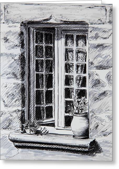 Sketchbook Greeting Cards - French Window - sketchbook Greeting Card by Lindsey Weimer