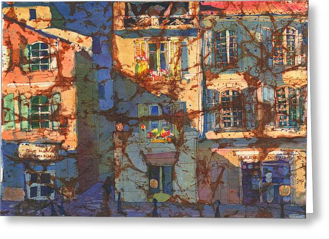 Watercolour Greeting Cards - French Windows Greeting Card by Yevgenia Watts