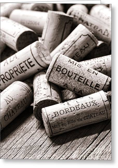 French Open Greeting Cards - French Wine Corks Greeting Card by Olivier Le Queinec