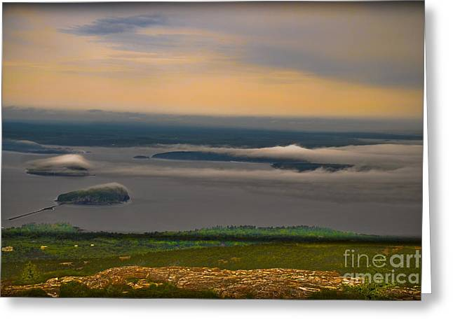 Sun Baker Greeting Cards - Frenchman Bay and the Porcupine Islands Greeting Card by Gary Keesler