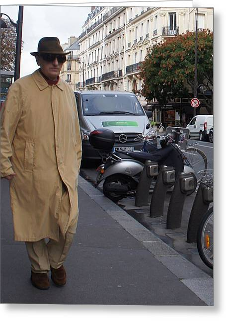 Frenchman Incognito Greeting Card by Kristine Bogdanovich