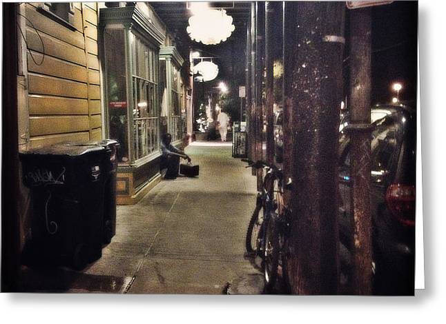 Store Fronts Greeting Cards - Frenchman St. - N.O. Greeting Card by Robert Pierce
