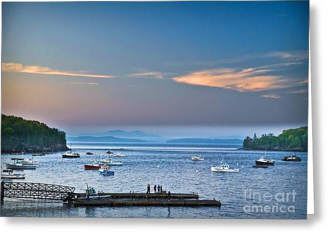 New England Village Greeting Cards - Frenchmans Bay Bar Harbor  Greeting Card by Gary Keesler