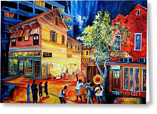 Frenchmen Street Funk Greeting Card by Diane Millsap