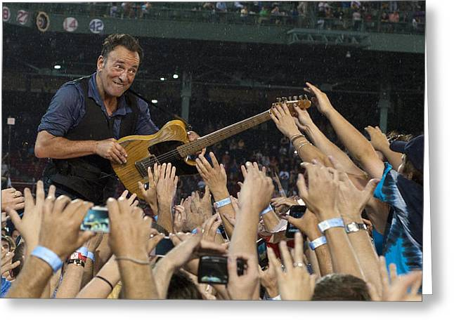 E Street Band Greeting Cards - Frenzy at Fenway Greeting Card by Jeff Ross