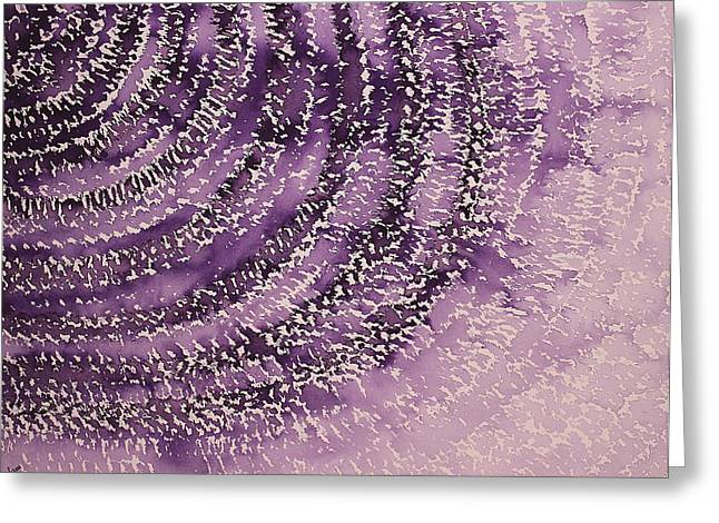Human Potential Greeting Cards - Frequency Increase original painting Sold Greeting Card by Sol Luckman