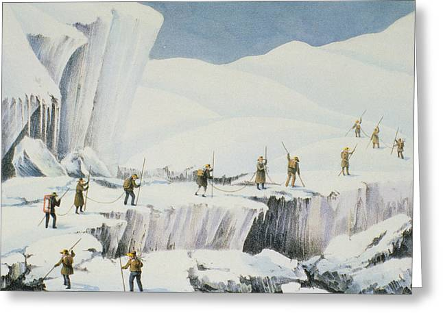 Danger Drawings Greeting Cards - Frequent Appearance Of The Ice Greeting Card by English School